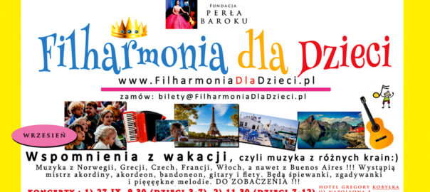 Koncerty edukacyjne Filharmonia dla Dzieci Kobyłka Zielonka