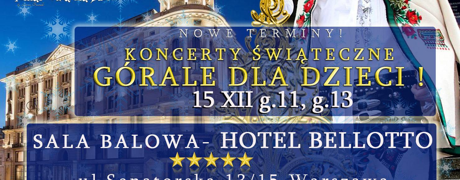 Filharmonia dla Dzieci Gorale dla Dzieci w hotelu Bristol i Bellotto Koncerty świateczne dla dzieci grudzień